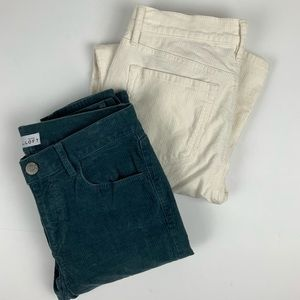 Lot of 2 LOFT Modern Skinny Corduroy Pants Jeans 2